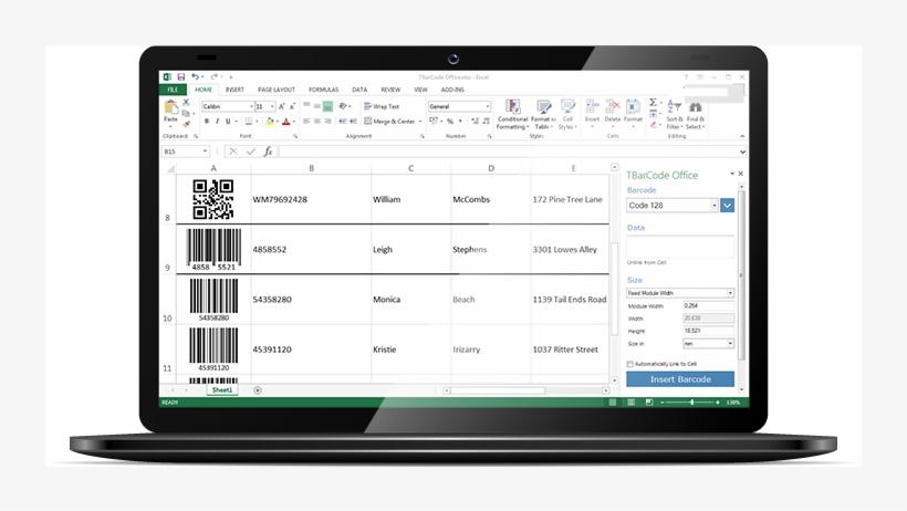 Complemento De Código De Barras Para Excel - Baseline Test App, transparent png #1151669