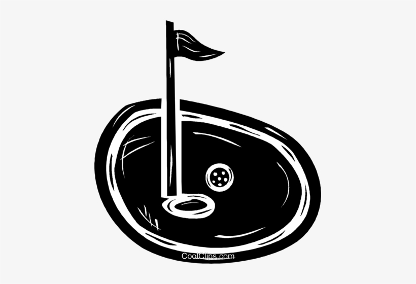 Golf Ball On The Green Near The Pin Royalty Free Vector - Illustration, transparent png #1151836