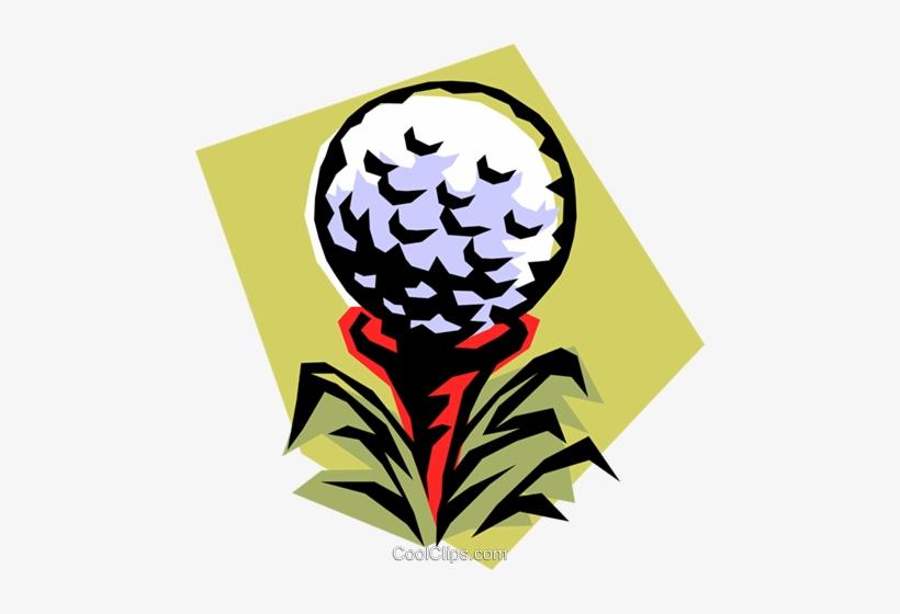 Golf Ball On Tee Royalty Free Vector Clip Art Illustration - Illustration, transparent png #1152231