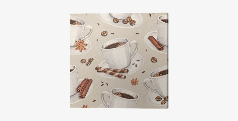 Watercolor Illustrations Of Coffee Cup - Coffee Cup Patterns, transparent png #1152528