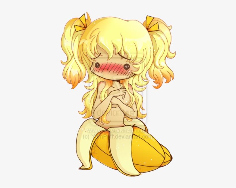 Drawn Banana Chibi - Anime Girl Chibi Banana, transparent png #1152745
