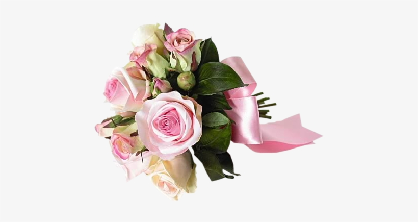 Bouquet Of Pink Roses Png, transparent png #1153166