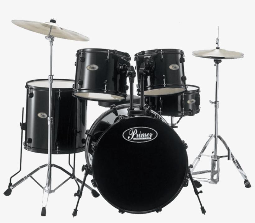Best Primer Drums Kit Png - Pearl Drum Set Black, transparent png #1153259