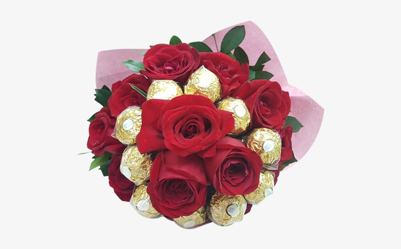 Chochlate Dreams 10 Ferraro 13 Rose Bouquet Engrave - Chocolate, transparent png #1153610