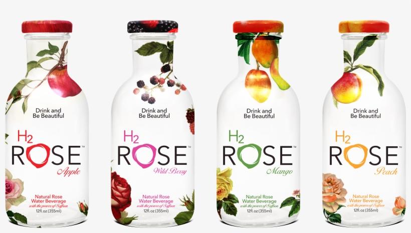 H2rose Rose Infused Drinks With Fruit Water - H2o Rose Water, transparent png #1154323