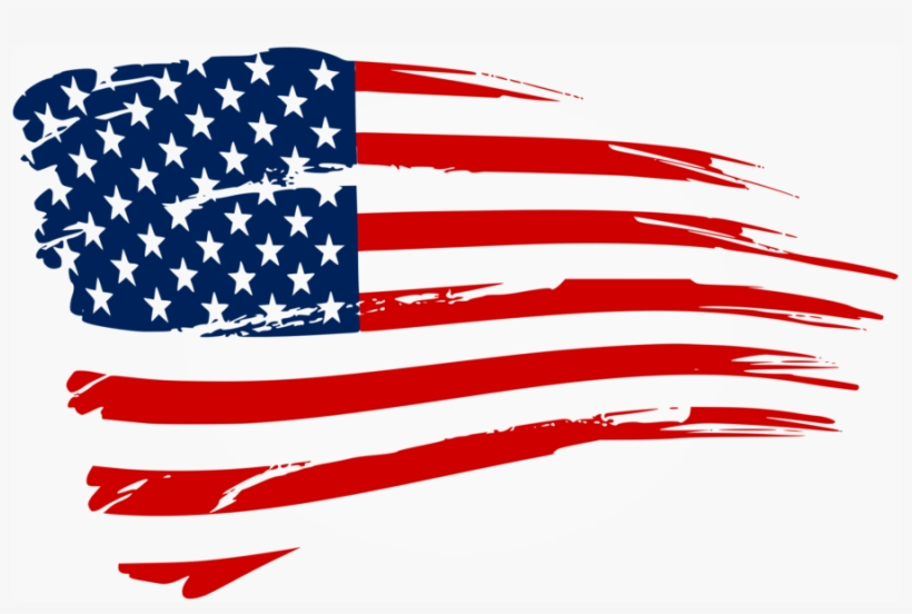 Distressed American Flag Decal Clipart United States - American Flag Logo Png, transparent png #1154513