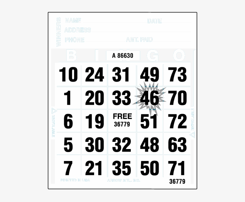 Ultra Capitol Starburst Paper - Carte De Bingo A Imprimer - Free HJ-11