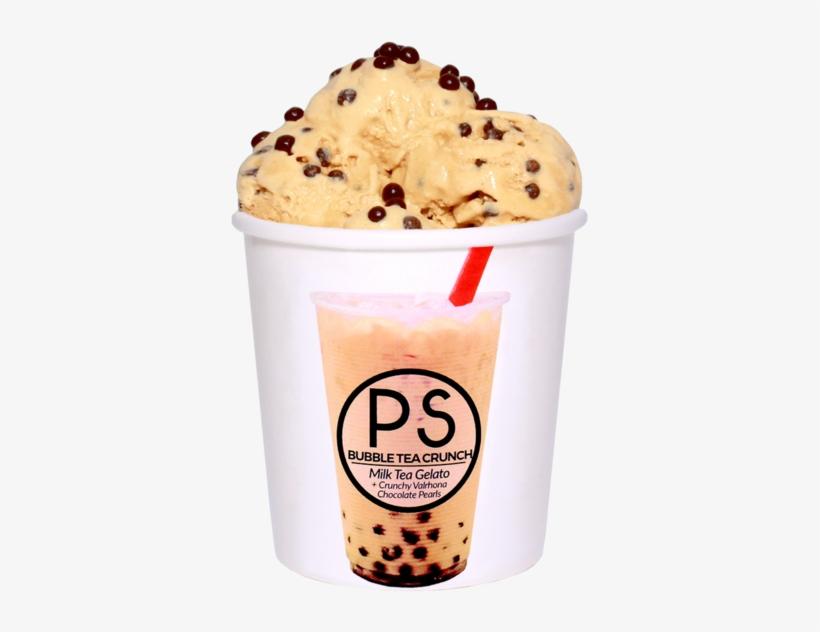 Bubble Tea Crunch - Bubble Tea Ice Cream - Free Transparent PNG