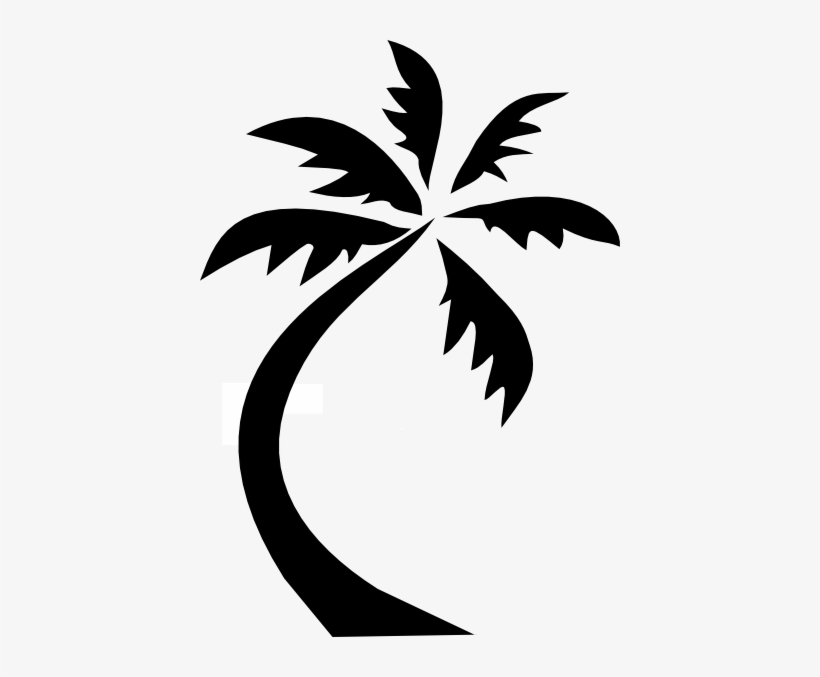 Palm Tree Clipart Black And White Png Sjt02515 Going To My Happy