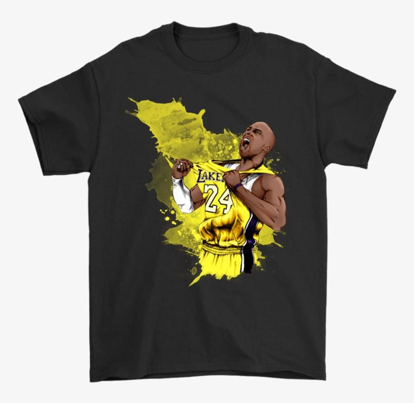 Gildan Mens T-shirt / Black / S Kobe Watercolor Shirt - Washington Capitals Stanley Cup Gear, transparent png #1157954