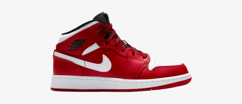 Air Jordan 1 Mid Gs Gym Red - Nba Stores Basketball Stores, transparent png #1157979
