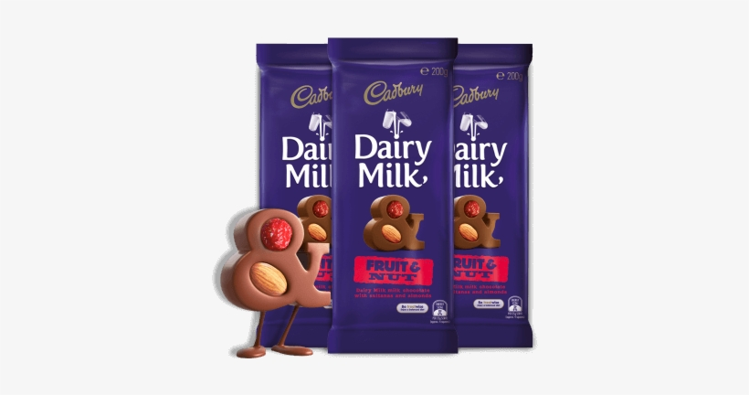 Fruit & Nut - Dairy Milk Chocolate Fruit And Nut, transparent png #1158190