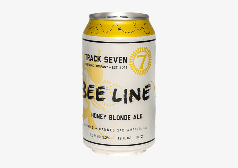 Can Of Bee Line Honey Blonde Ale - Track 7 Brewing Company, transparent png #1158878