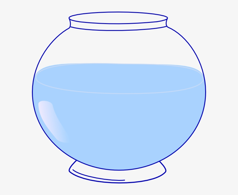 Fish Bowl Clip Art At Clker - Fish Bowl Clipart Png, transparent png #1158901