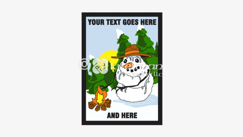K1809 Snowman By The Fire - Fire, transparent png #1160195