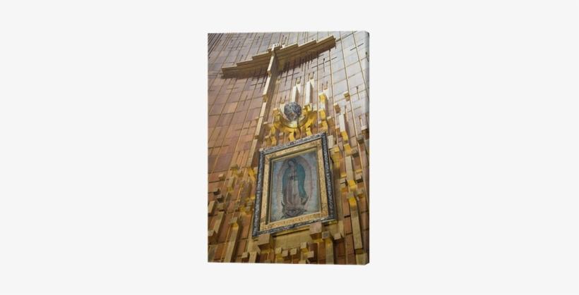 Pintura De La Virgen, Santuario De Guadalupe Canvas - Basilica Of Our Lady Of Guadalupe, transparent png #1162123