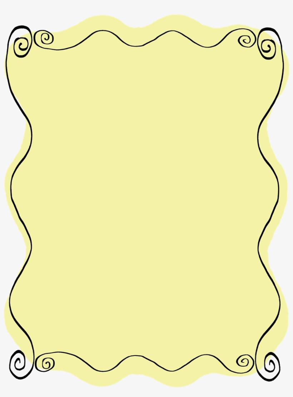 Doodle Labels Frames Scrapbooking Wavy Line Art Digital - Png Blue Doodle Frame, transparent png #1162573