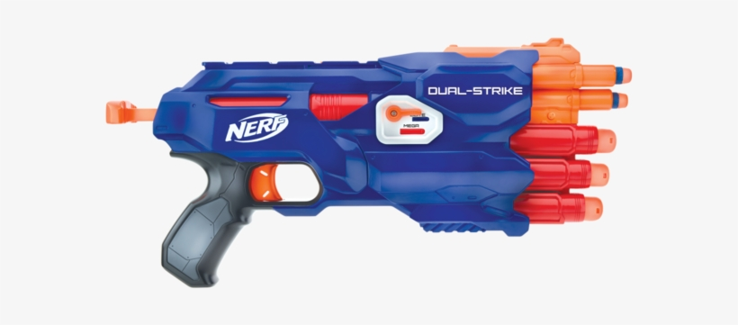 File - Dualstrike - Nerf Guns Dual Strike, transparent png #1163641