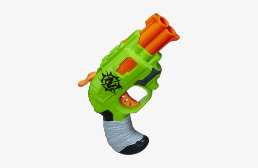 Nerf Zombie Strike Doublestrike Blaster - Nerf Gun Zombie Strike Double Strike, transparent png #1163866