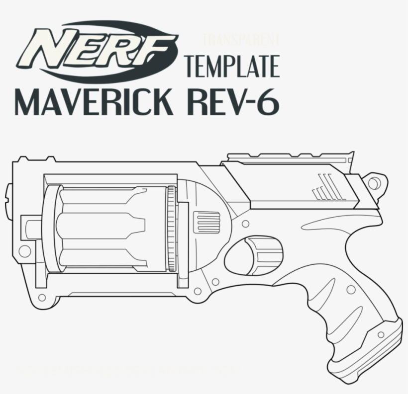 Nerf Coloring Pages - Nerf Gun N-strike Elite Crossbolt Blaster - Free  Transparent PNG Download - PNGkey