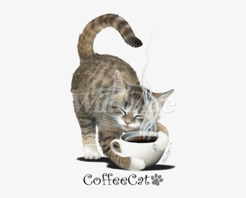 Coffee Cat With Paw Print - Cat, transparent png #1164392