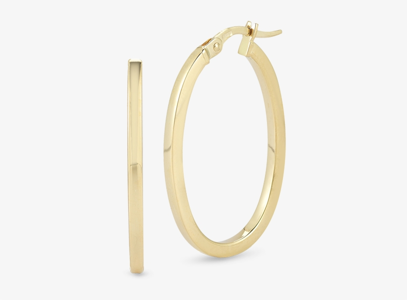 Roberto Coin Perfect Gold Hoops™ 18k Yellow Gold - Body Jewelry, transparent png #1165718