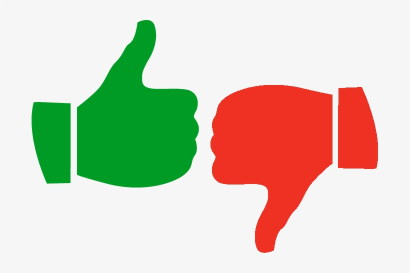 Likes And Dislikes City - Green Thumbs Up Red Thumbs Down, transparent png #1166740