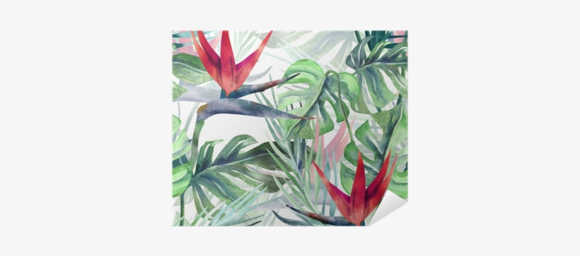 Exotic Plant Seamless Pattern - Watercolor Painting, transparent png #1167580