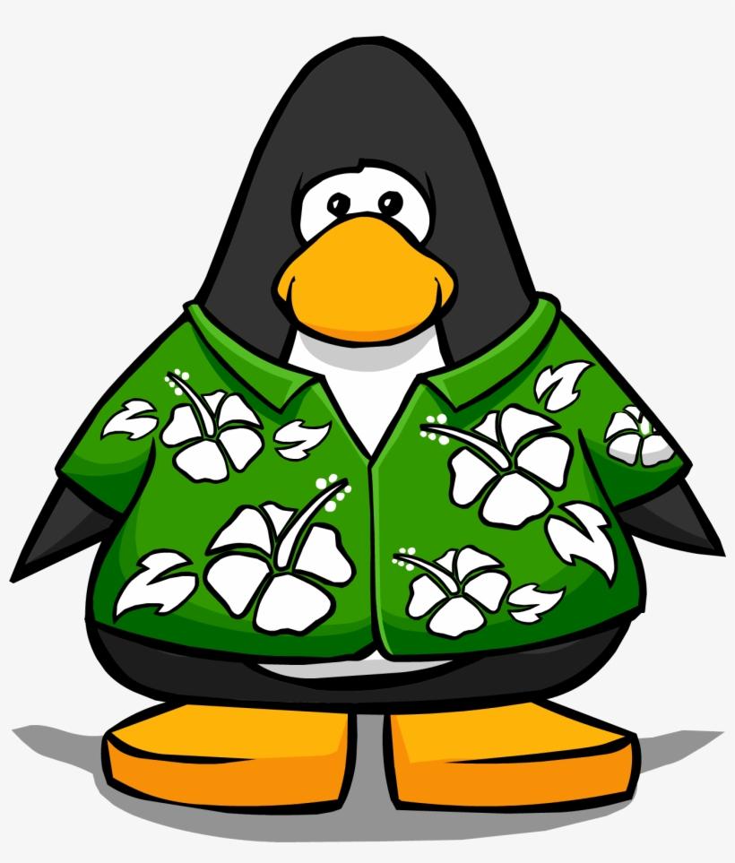 b4893d3f Hawaiian Shirt On A Player Card - Penguin In Hawaiian Shirt - Free ...