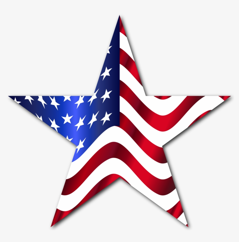 Flag Of The United States Computer Icons Map - Star With American Flag, transparent png #1169711