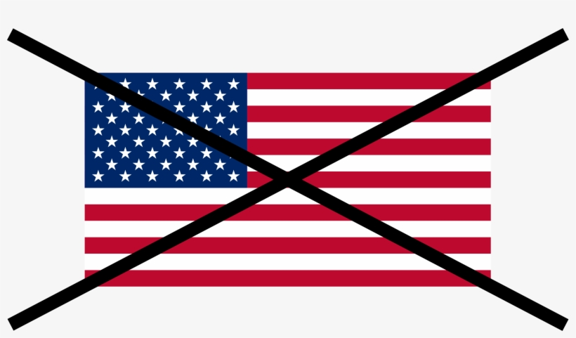 Flag Of The United States Crossed Out - Us Flag Crossed Out, transparent png #1170013