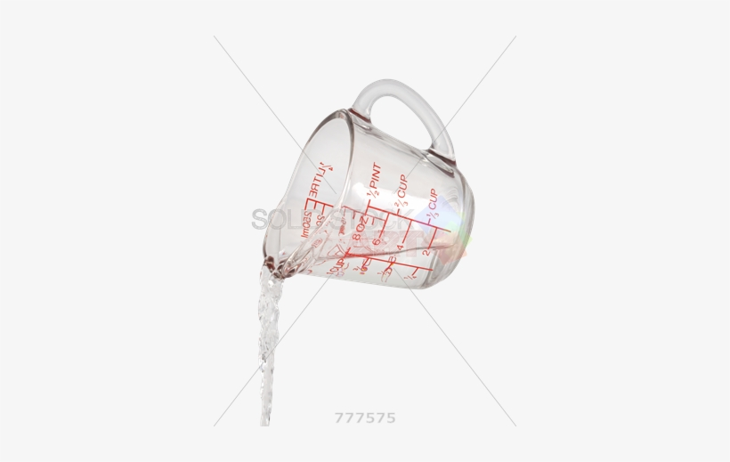 Stock Photo Of Water Pouring From Measuring Cup Isolated - Pouring From Measuring Cup, transparent png #1170632