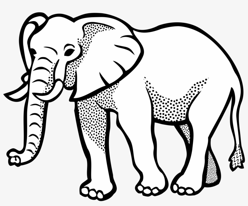 Elephant Lineart Big Image Png Animals Clipart Black And White Free Transparent Png Download Pngkey