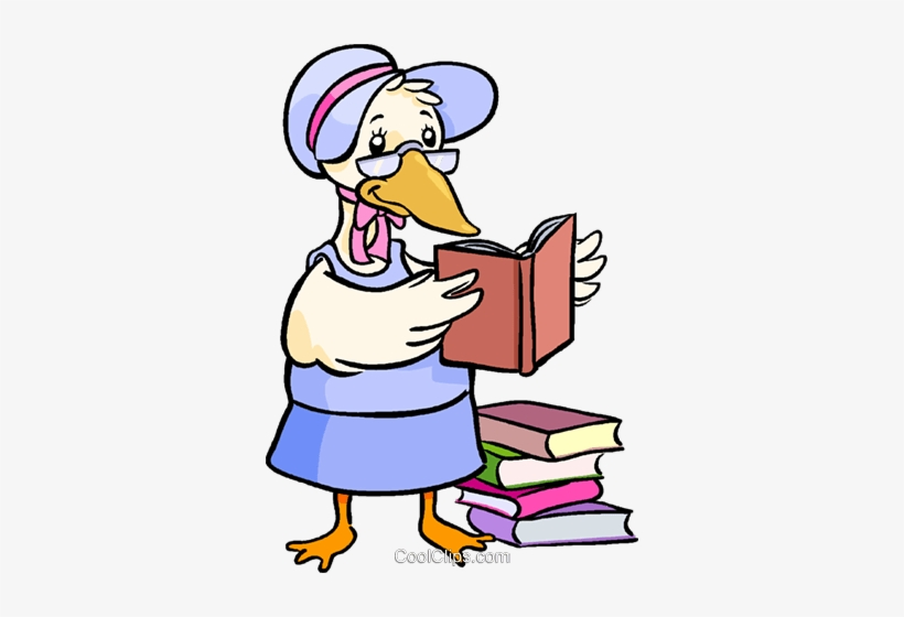 Mother Goose Reading Books - Mother Goose Reading A Book, transparent png #1171623