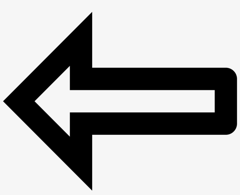 Arrow Pointing Left Icon - Arrow Turning Around, transparent png #1173326