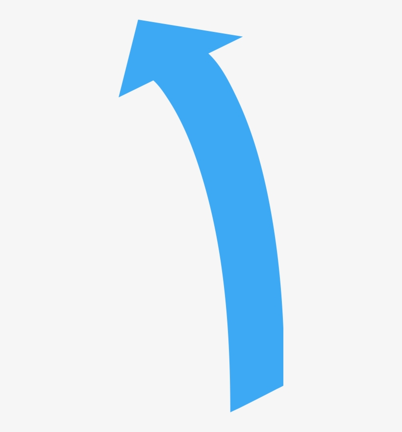 Curved Directional Arrow Pointing Up - Curved Arrow Pointing Up, transparent png #1173349