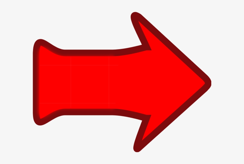 Red arrow cartoon. Clipart pointing right