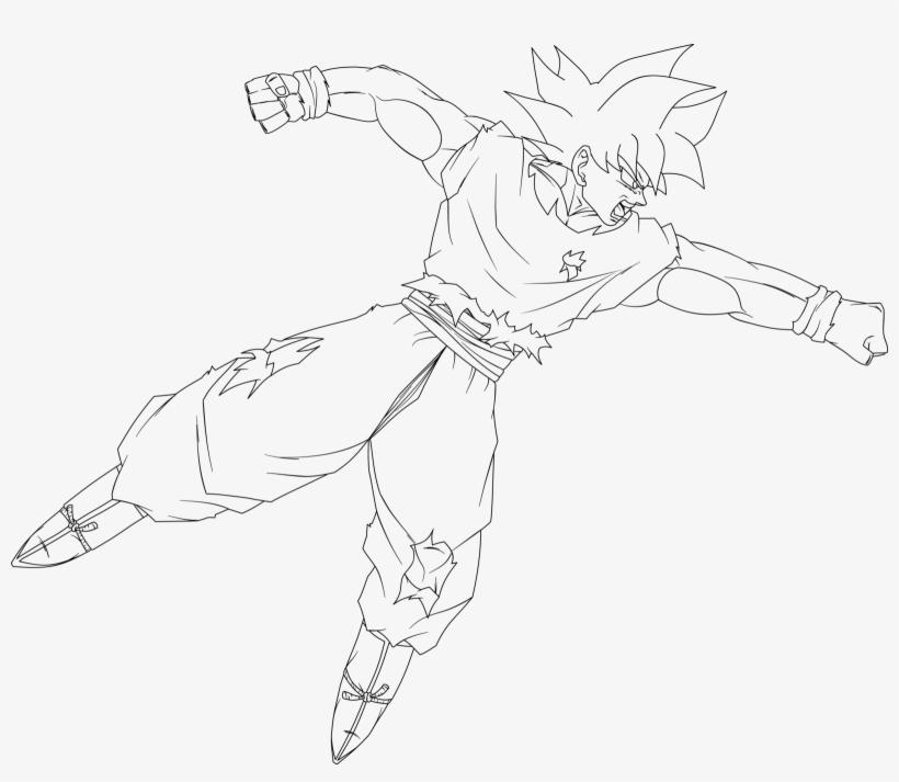 Ultra Instinct Goku Punching Lineart By Dragonballaffinity ...