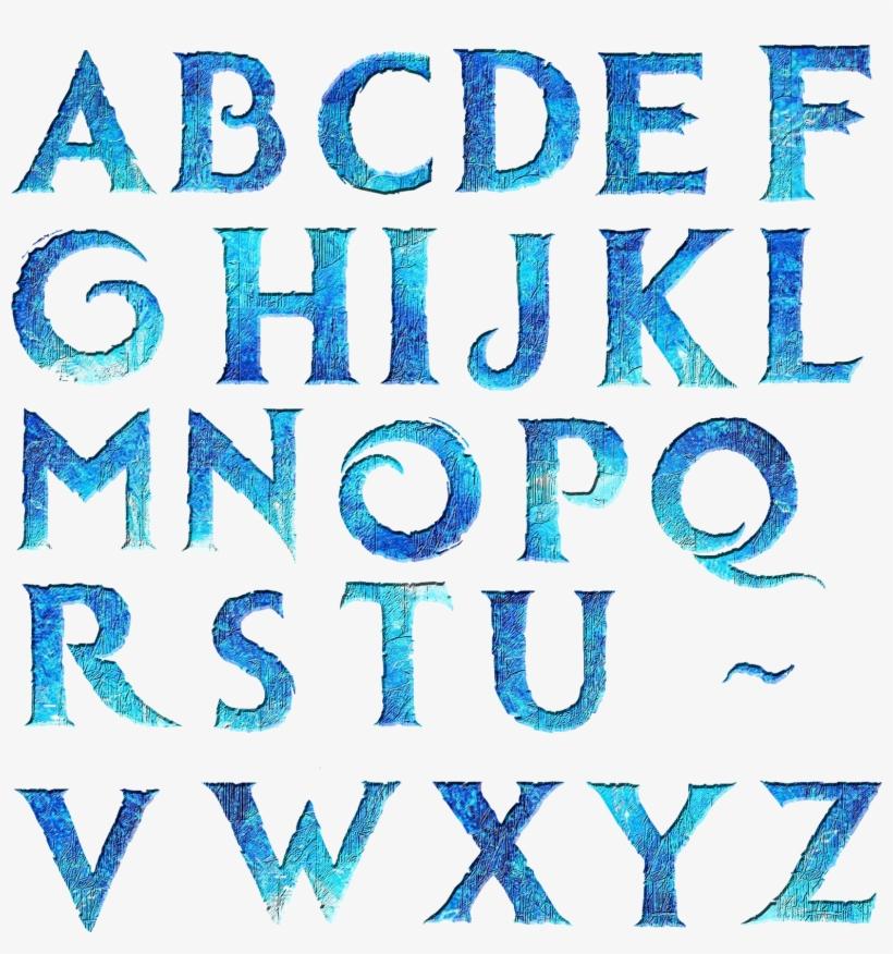 Alfabeto Estilo Frozen - Letras De Frozen, transparent png #1180466