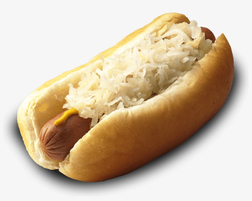 Clipart - Sauerkraut Mustard Hot Dog, transparent png #1180550