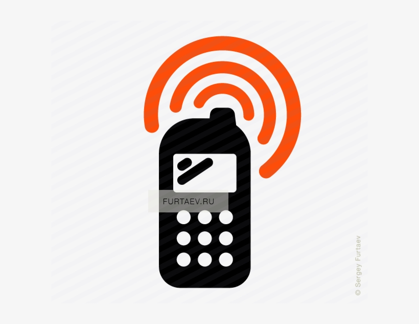 Vector Icon Of Wireless Signal Going From Cell Phone - Mobile Phone, transparent png #1181091