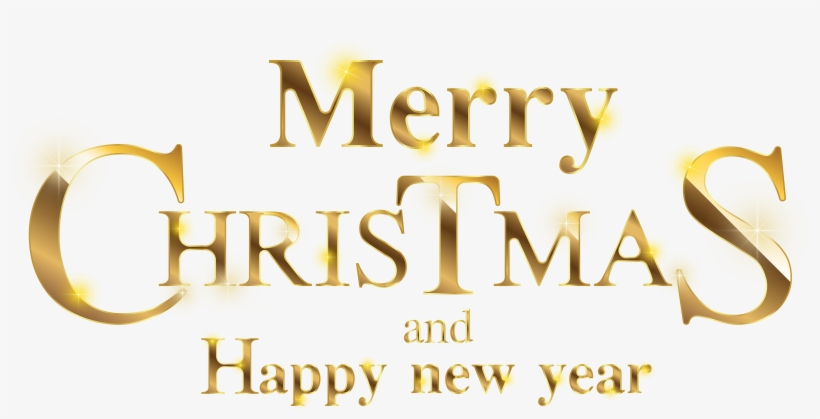 Merry Christmas And Happy New Year Transparent, transparent png #1181749