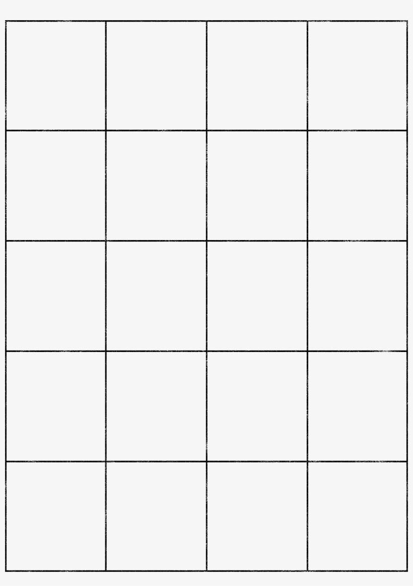Drawing Grids Template - 4 X 4 Matrix, transparent png #1182872