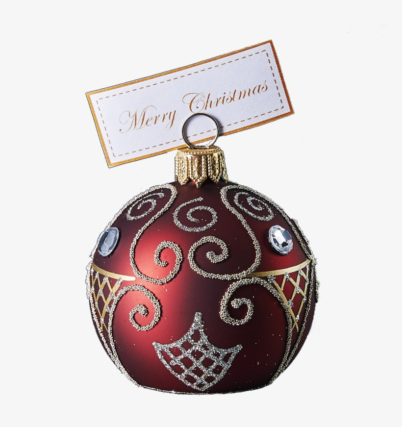 Hand Crafted Christmas Ornament Ruby Cardholder With - Christmas Ornament, transparent png #1182889