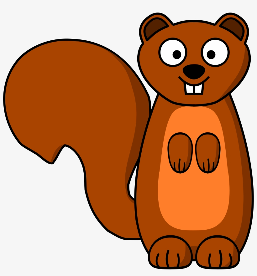 Squirrel Stoat Ferret Computer Icons Drawing - Clip Art Squirrel, transparent png #1183447