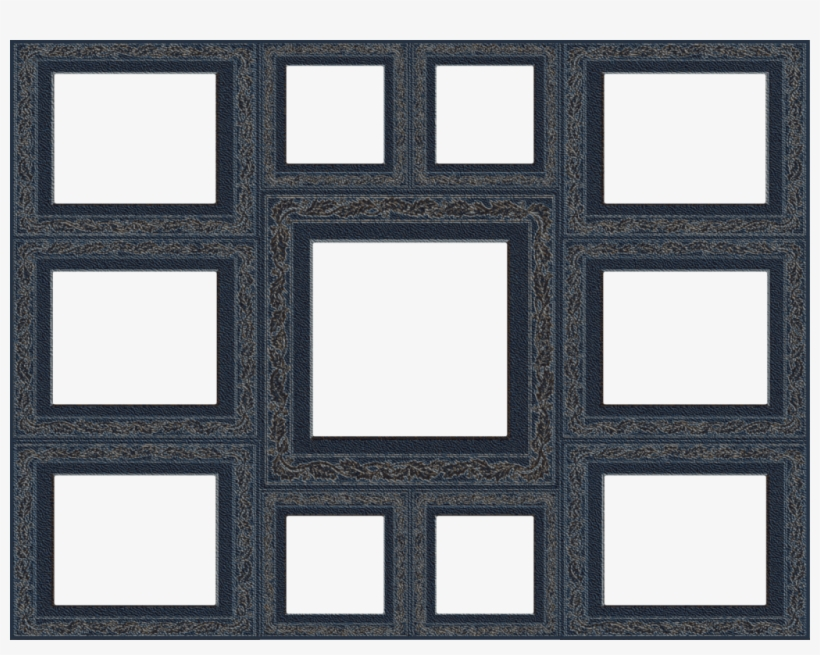Collage Frame Transparent Clipart Collage Picture Frames