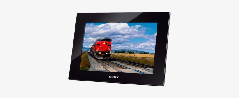 "1"" Black Digital Photo And Video Frame - Sony Dpf-hd1000/b - Digital Photo Frame - 10.1 In, transparent png #1185847"