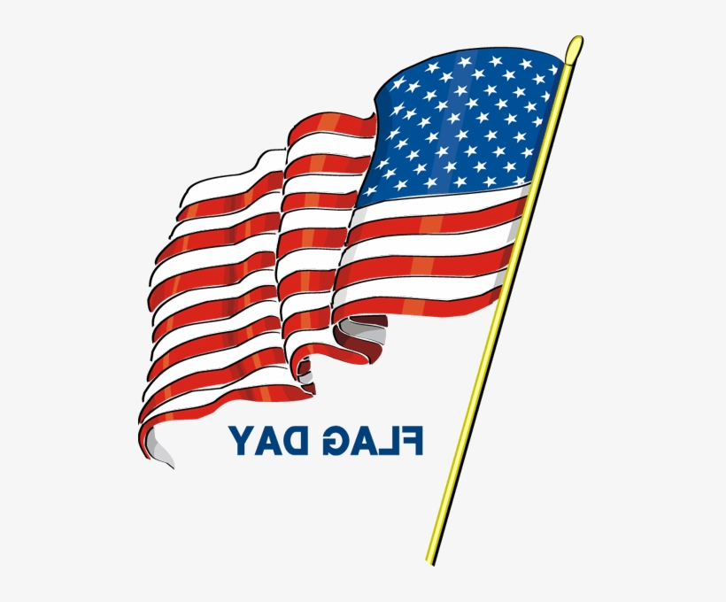 American Waving Flag Happy Flag Day Clipart - Flag Day, transparent png #1185888