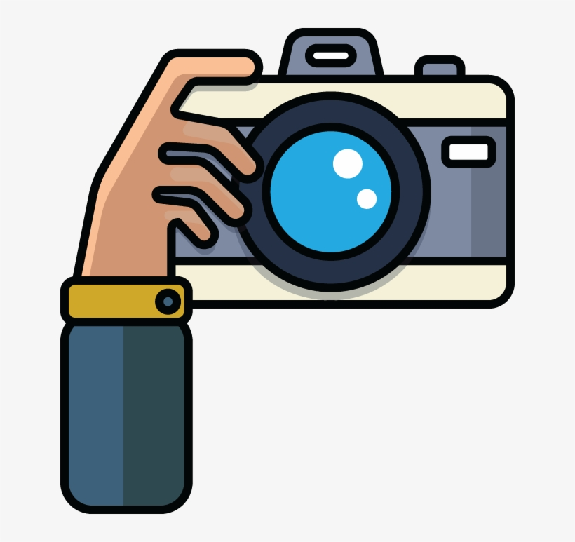 710 Cartoon Illustration Of Hand With Camera - Clipart Camera - Free Transparent PNG Download - PNGkey