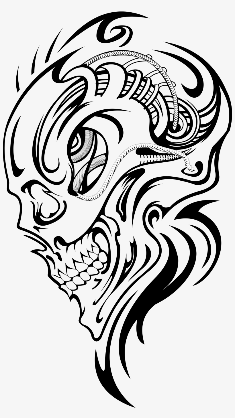 c681ed74f Vector Transparent Library Achilles Drawing Tattoo - Skull Tattoos Designs  Tribal